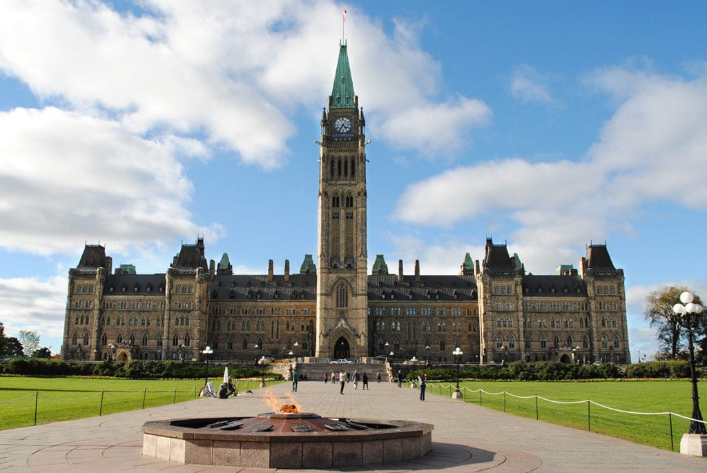 Canadian parliament building in ottawa where federal decisions are made regarding a mortgage stress test review